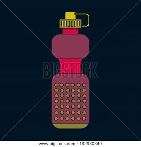 Icon in flat design Sports bottle sport