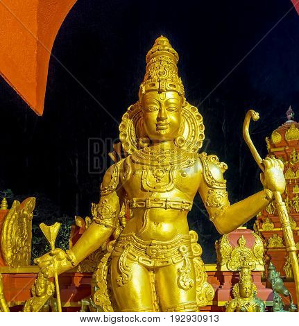 The Golden Rama Statue