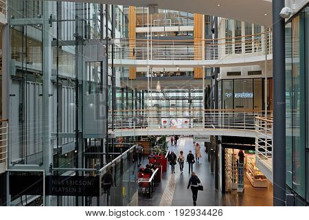GOTHENBURG SWEDEN - MAY 2017: Interior of Central Train Station in Gothenburg. Sweden.