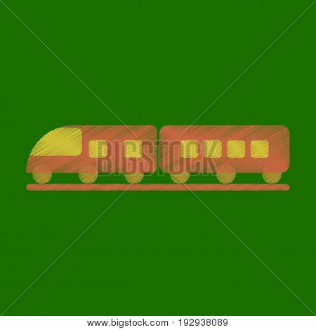 Flat Icon in Shading Style train business
