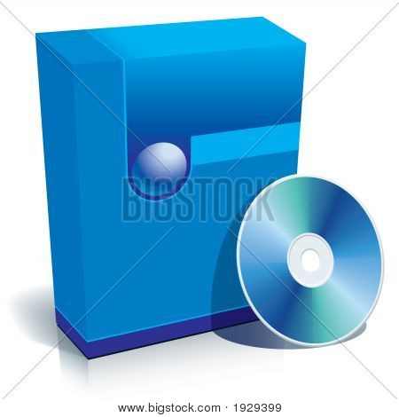 Box And Cd Blue