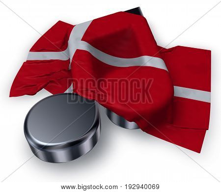 music note and danish flag - 3d rendering