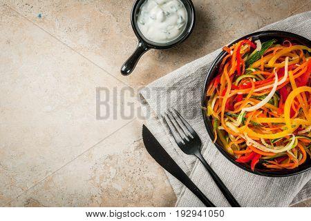Raw Vegetable Noodles