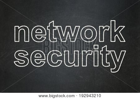 Privacy concept: text Network Security on Black chalkboard background