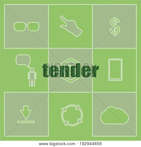 Text Tender. Business Concept . Set Of Infographics Elements