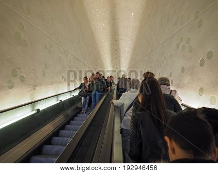 Elbphilharmonie Concert Hall Escalator In Hamburg