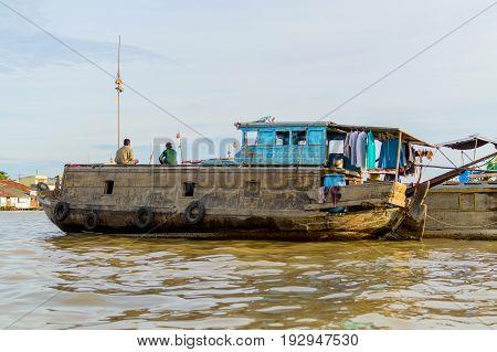 Flooting Market On The Mekong River