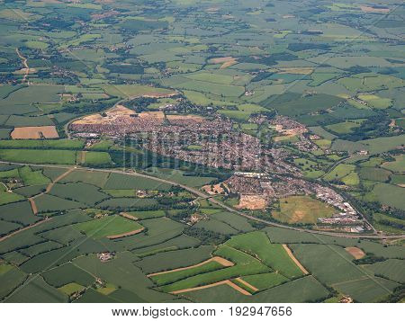 Aerial View Of Dunmow, Uk