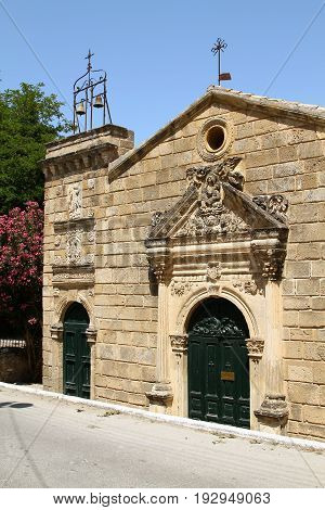 Old Church of Our Lady of the Angels on the island of Zakynthos. Greece