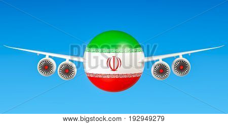 Iranian airlines and flying's concept. 3D rendering
