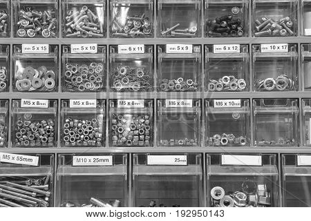 Many Small Metal Nose Washers Nuts In Store Specializing In Hard