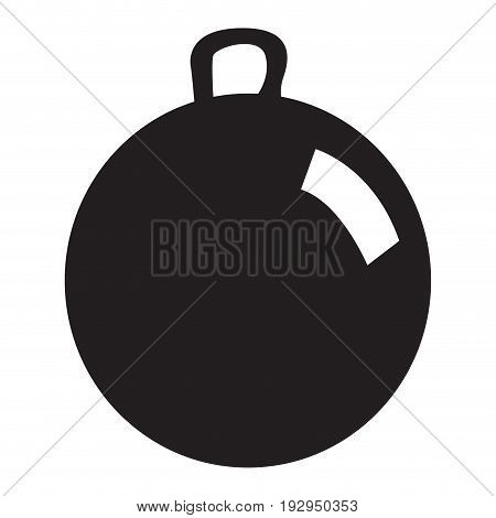Isolated silhouette of a ball toy, Vector illustration