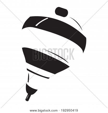 Isolated silhouette of a spin, Vector illustration
