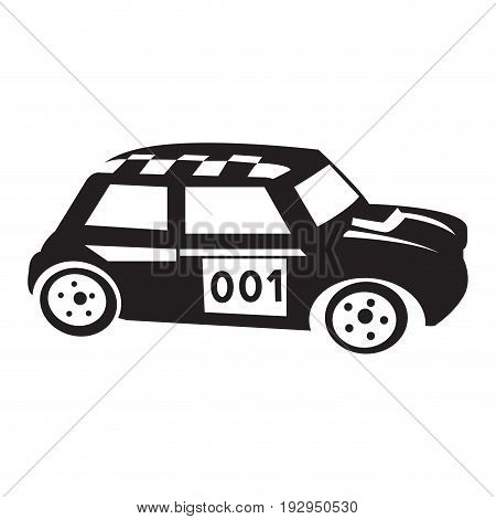 Isolated silhouette of a car toy, Vector illustration