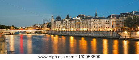 Conciergerie castle located on the west of the Ile de la Cite now used for law courts.Hundreds of prisoners during the French Revolution were taken from Conciergerie to be executed on the guillotine.