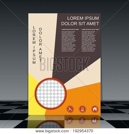 Professional business flyer with colorful elements vector design templat