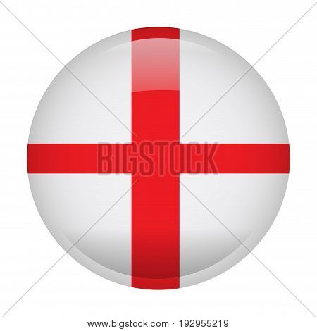 Isolated flag of England on a button, Vector illustration