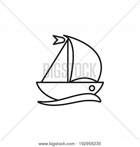 Ship web line icon. vector simple design.