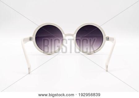 White Oversized Plastic Sunglasses