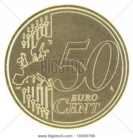 Uncirculated 50 eurocent with new map