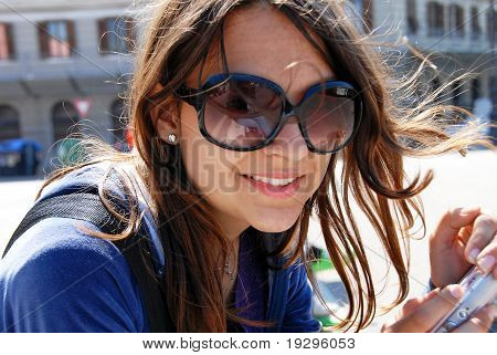 Teenage Girl In Sunglasses