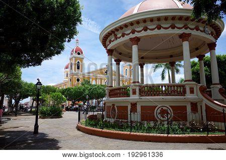 12Th September 2014, Granada, Nicaragua - A View Of Granada Cathedral In Nicaragua