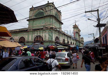 16Th September 2014, Granada, Nicaragua - The Bustling Market Of Granada In Nicaragua