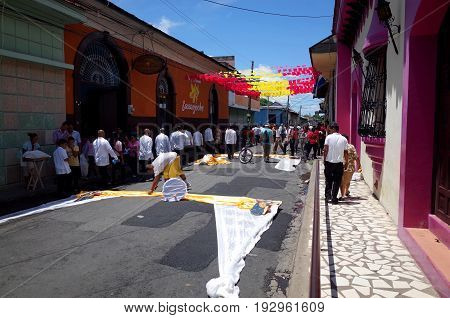 24Th September 2014, Leon, Nicaragua - Streets Decorated To Celebrate The Festival De La Virgen De L