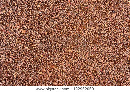 closeup gravel red brown color texture background