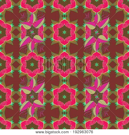 Spring floral background with pink flowers. Motley illustration. The elegant the template for fashion prints. Small colorful flowers. Vector cute pattern in small flower.