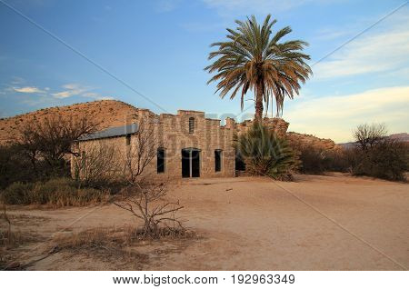 Historic Post Office in the Hot Springs Section of Big Bend National Park, Texas