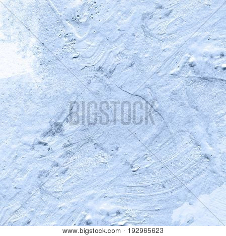 Abstract blue acrylic hand paint background. Part of oil painting with brush strokes. Background of detail of blue acrylic painting.
