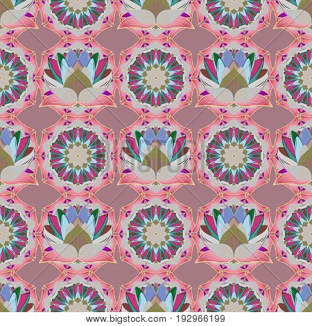 Seamless pattern with floral motif. Seamless floral pattern with flowers watercolor. Vector flower illustration.
