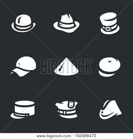 Bowler, hat, cylindrical cap, helmet, chinese hat, kepi, summer cap, polish cap, military cap.
