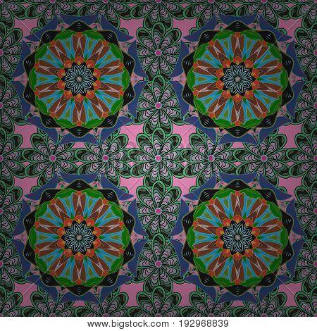 Arabic Vintage decorative ornament. Vector Mandala pattern on background. East Islam. Mandala colored background.