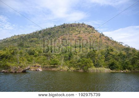 close up mountain and river in east Thailand