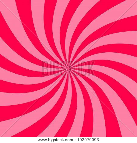 Abstract striped raspberry jam background. Spiral of yogurt. Stock vector