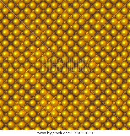 a large sheet of gold rivet or studded metal armour