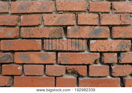 Old brick wall texture.  Red brick wall texture background. Abstract texture for designers. Background of brick wall texture. Old vintage brick wall. Grunge background.