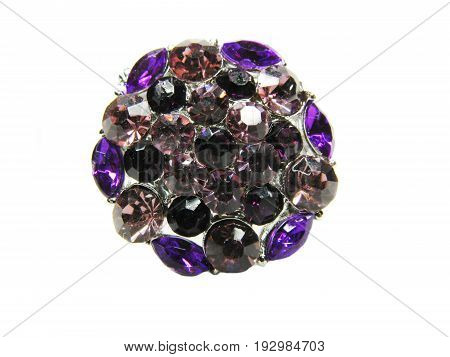 precious jewellery brooch isolated on white background