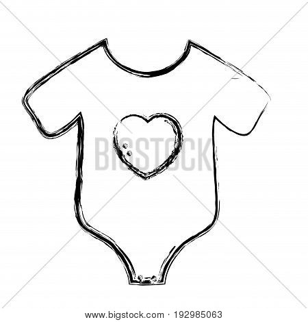 figure, baby clothes that used in the body vector illustration