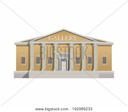 illustration of a Gallery on a white background