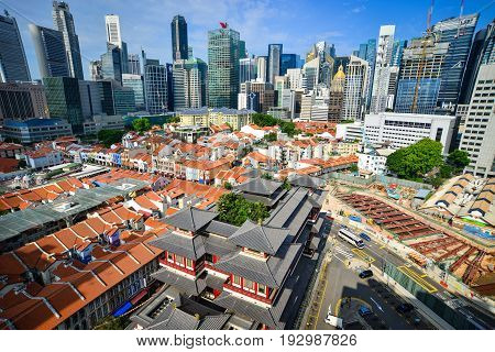 Tooth Relic Temple In Chinatown, Singapore