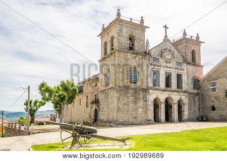 View at the church of Santa Cruz in Lamego - Portugal