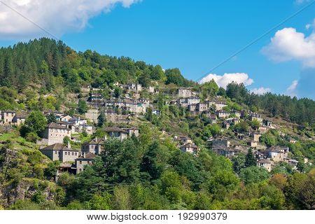 View of Kipi (Kipoi) one of stone villages of Zagoria. Epirus Greece