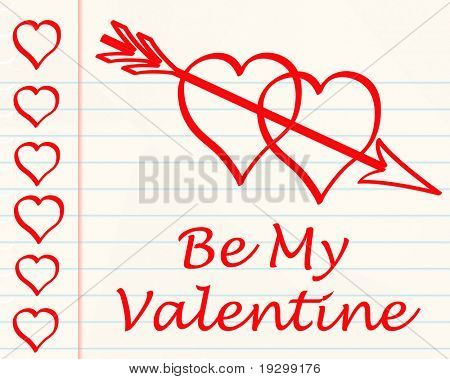 casual love or valentines message written in texta in a book