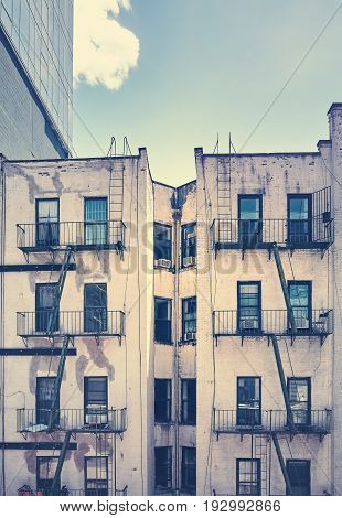 An Old Building With Fire Escape, New York City.
