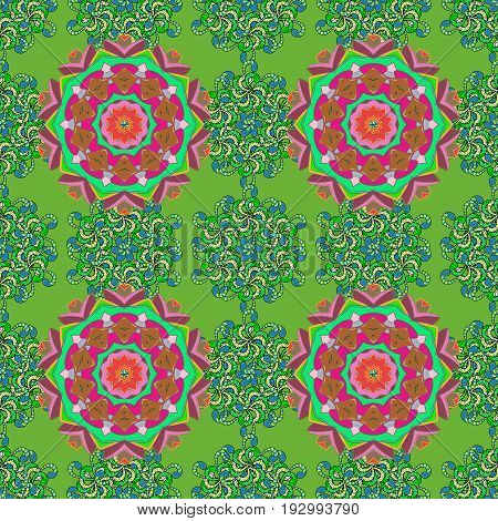 Small colorful flowers. The elegant the template for fashion prints. Motley illustration. Spring floral background with flowers. Vector cute pattern in small flower.