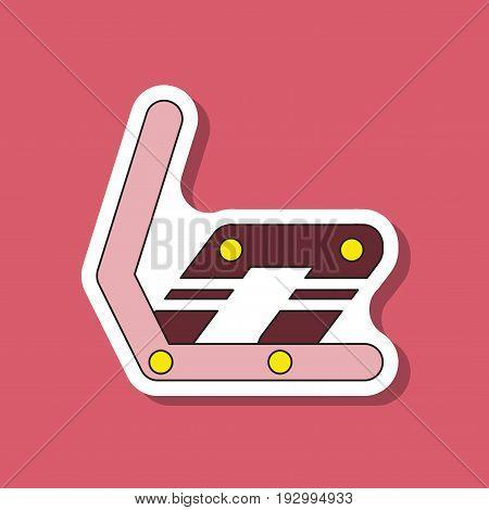 paper sticker on stylish background Snowboard binding
