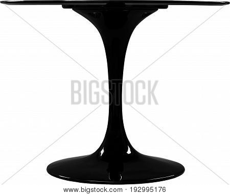 round black dinning table. Modern designer, table isolated on white background. Series of furniture